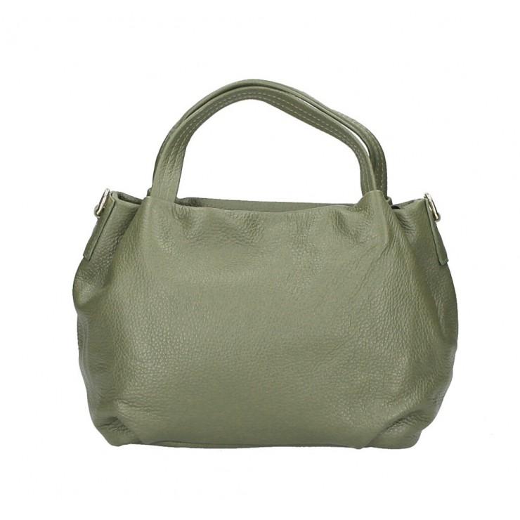 Genuine Leather Handbag 784 military green
