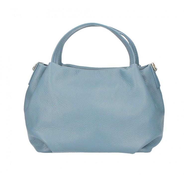 Genuine Leather Handbag 784 cerulean
