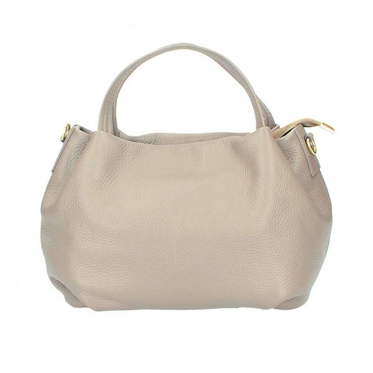 Genuine Leather Handbag 784 taupe