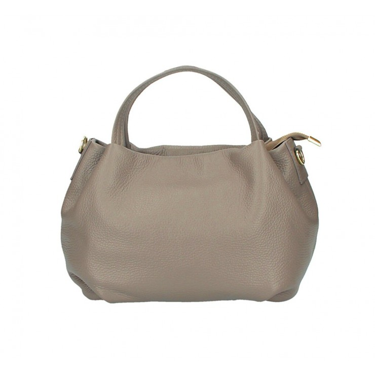 Genuine Leather Handbag 784 dark taupe