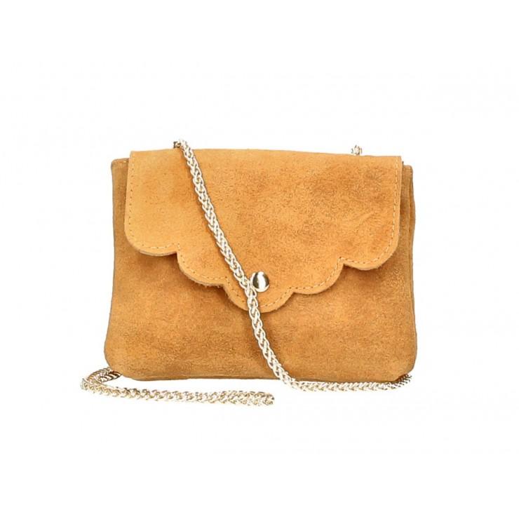 Genuine Leather Handbag MI298 cognac Made in Italy