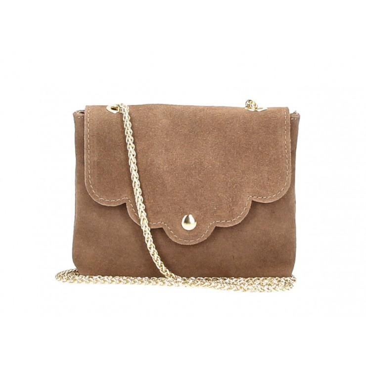 Genuine Leather Handbag MI298 dark taupe Made in Italy