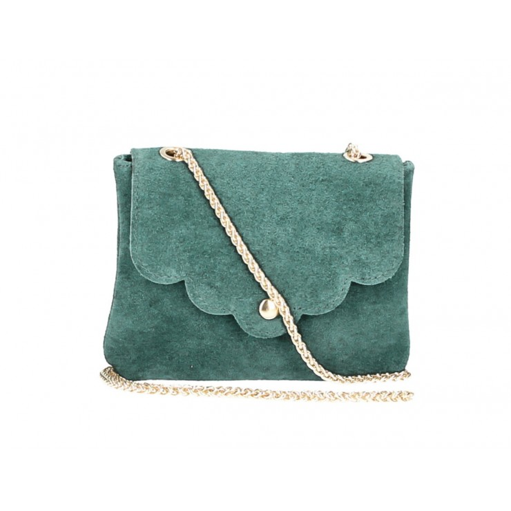 Genuine Leather Handbag MI298 petroleum Made in Italy
