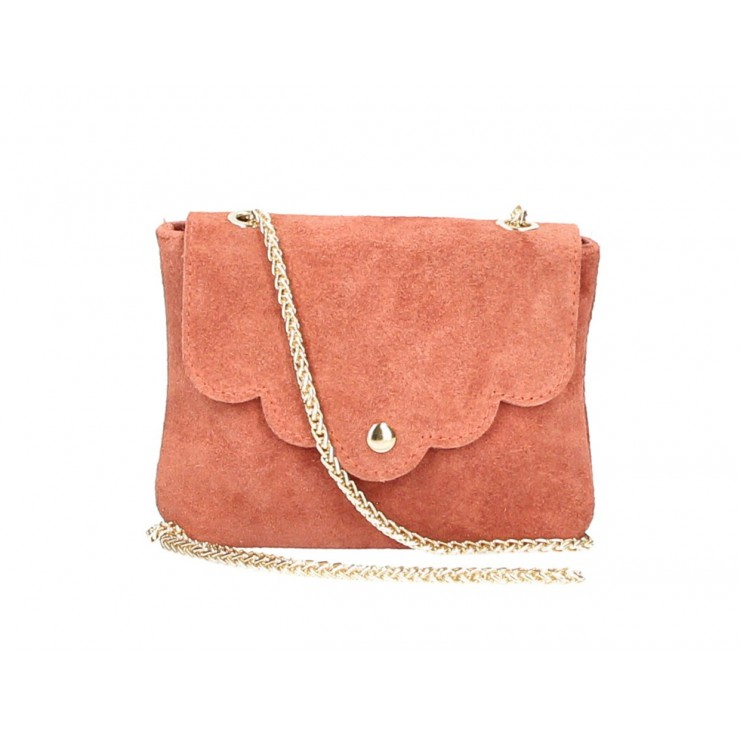 Genuine Leather Handbag MI298 papaya Made in Italy
