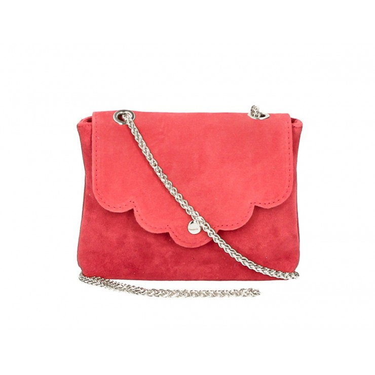 Genuine Leather Handbag MI298 red Made in Italy