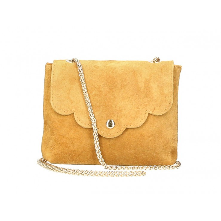Genuine Leather Handbag MI298 mustard Made in Italy
