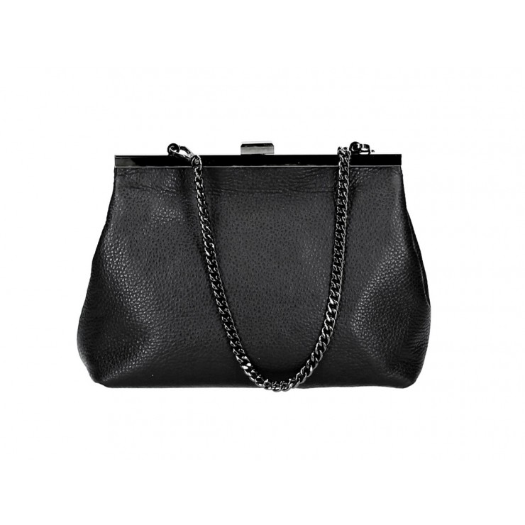 Clutch Bag with chain 295 black Made in Italy