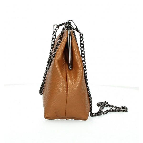 Kožená kabelka 295 čierna Made in Italy Čierna