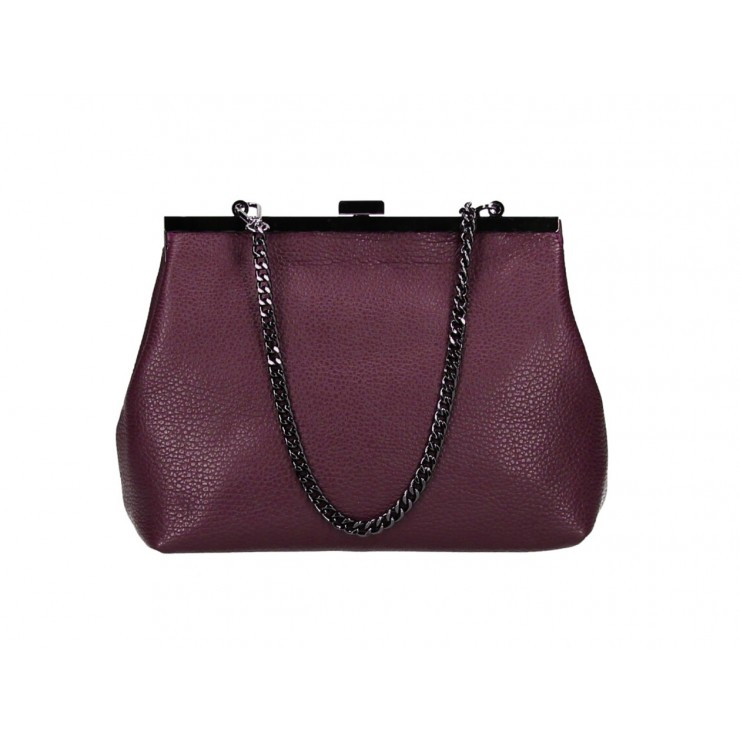 Clutch Bag with chain 295 wine Made in Italy