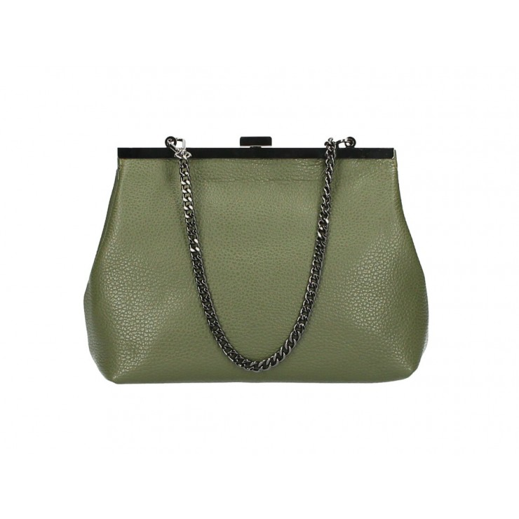 Clutch Bag with chain 295 military green Made in Italy
