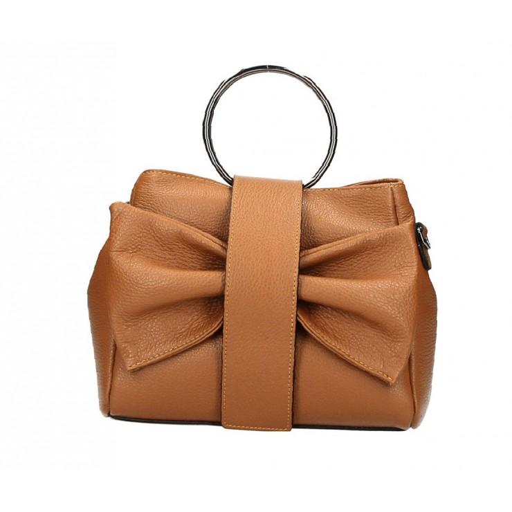 Leather Handbag 275 cognac MADE IN ITALY