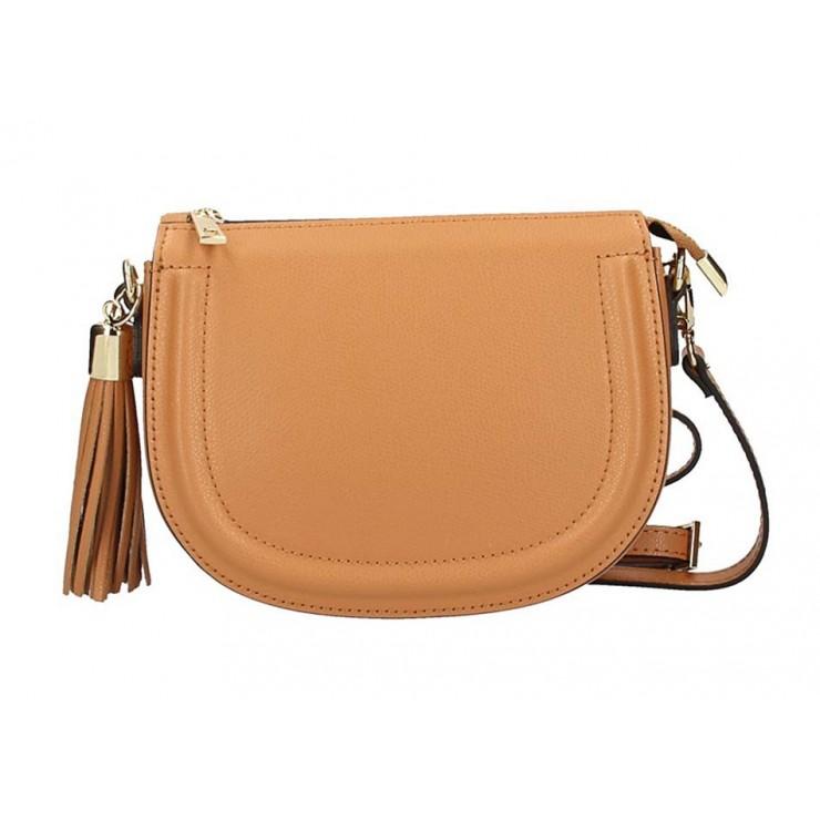 Koňaková kožená kabelka na rameno 1021