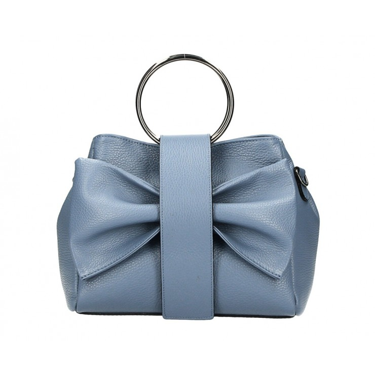 Leather Handbag 275 cerulean MADE IN ITALY