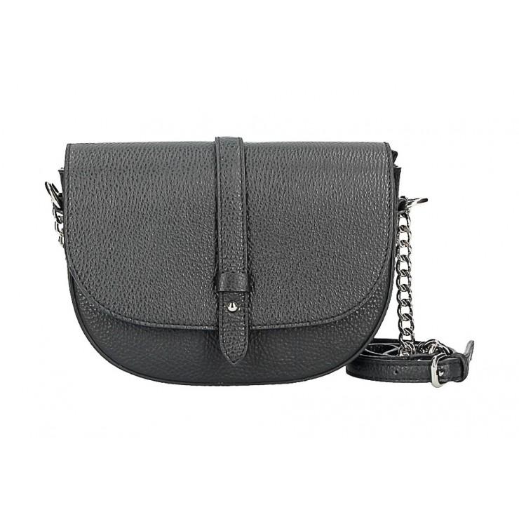 Kožená kabelka 5344 čierna