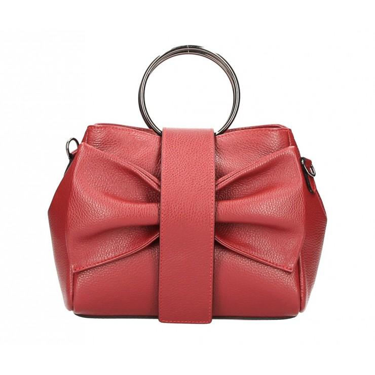 Leather Handbag 275 dark red MADE IN ITALY