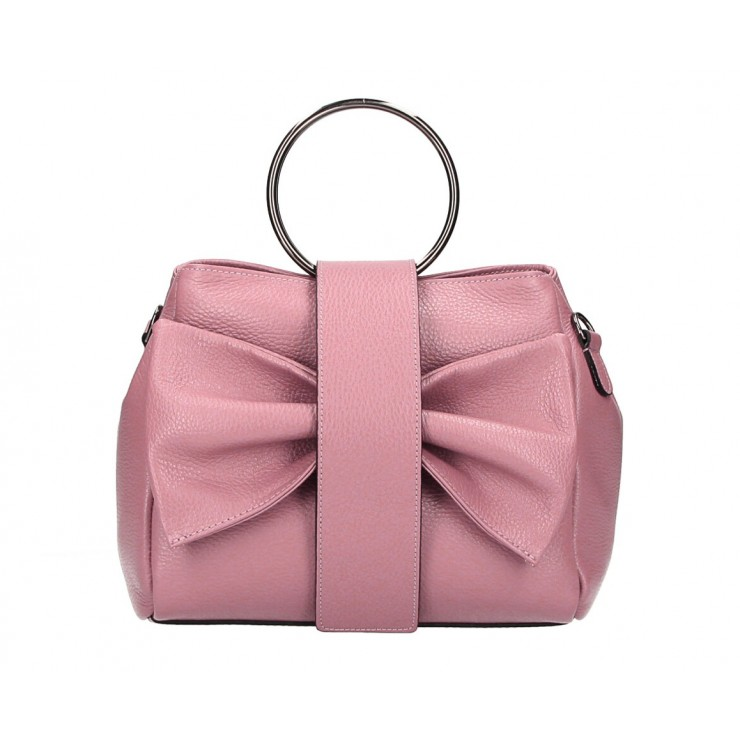 Leather Handbag 275 pink MADE IN ITALY