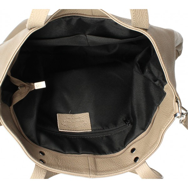 Kožená kabelka na rameno 165 koňak MADE IN ITALY Koňak