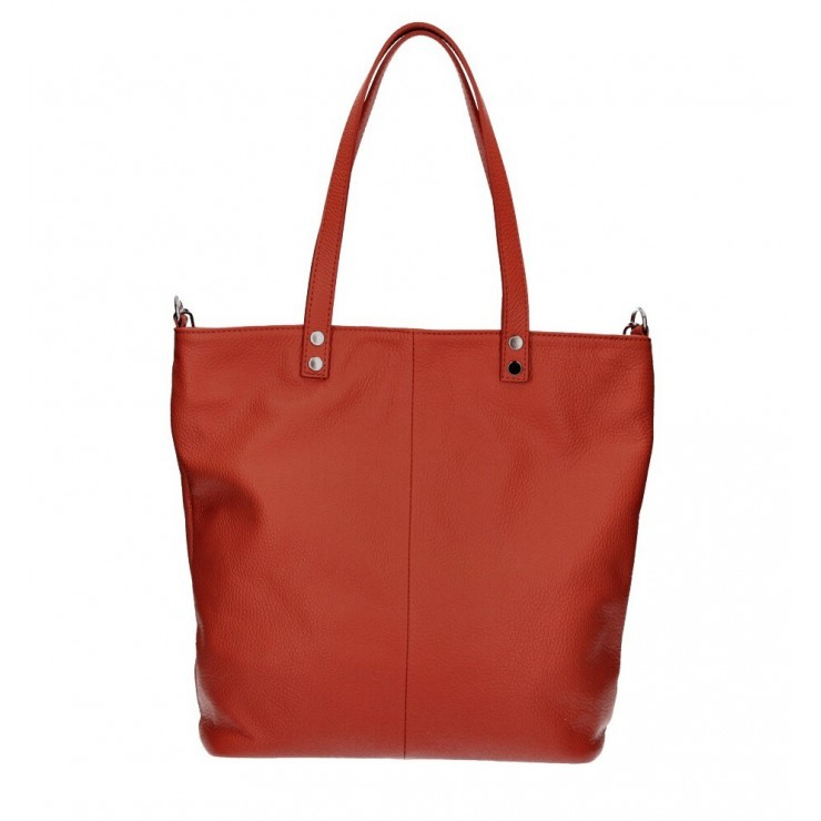 Genuine Leather Maxi Bag 165 red MADE IN ITALY