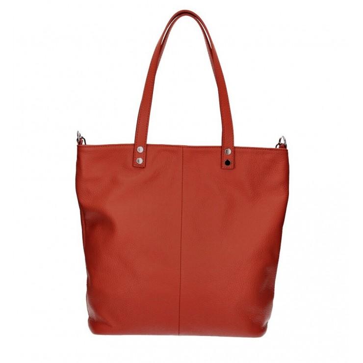 Kožená kabelka na rameno 165 červená MADE IN ITALY