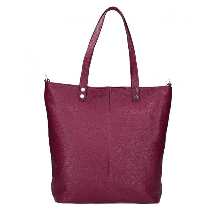 Genuine Leather Maxi Bag 165 wine MADE IN ITALY