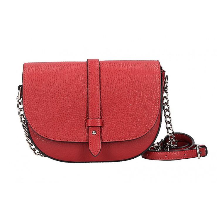Kožená kabelka 5344 červená