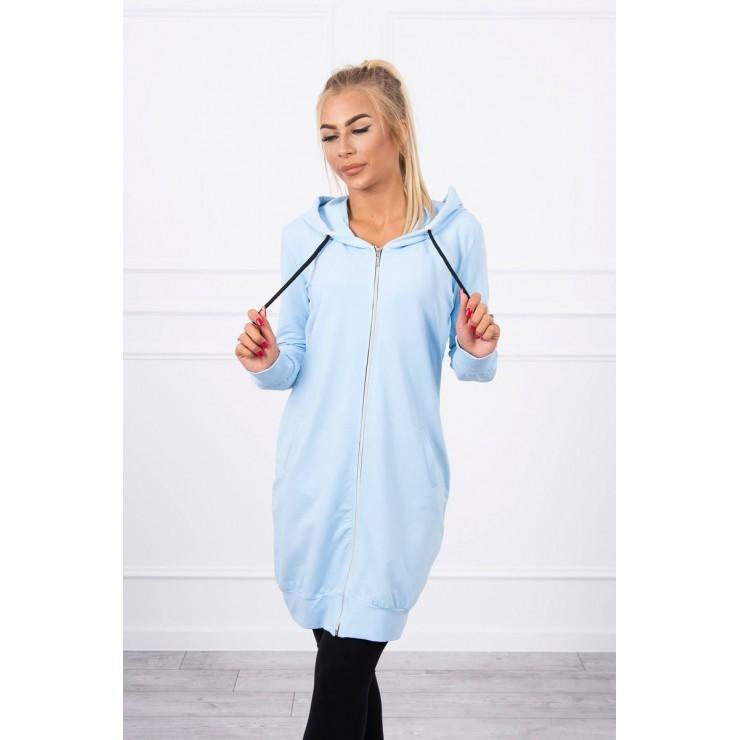 Hooded dress with e hood  MI8924 light blue