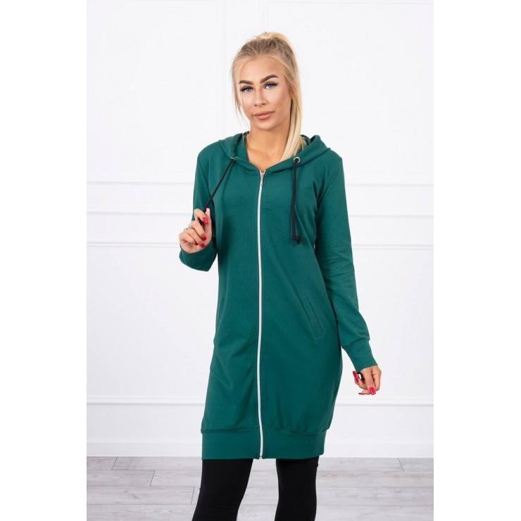Hooded dress with e hood  MI8924 green