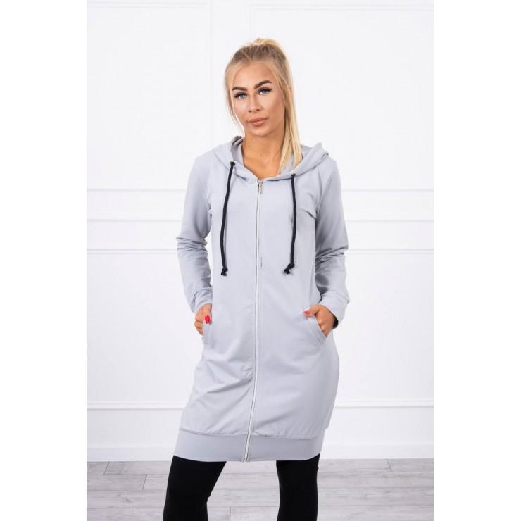 Hooded dress with e hood  MI8924 gray