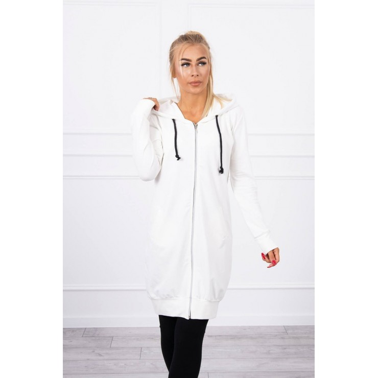 Hooded dress with e hood  MI8924 cream