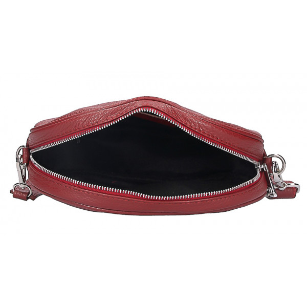 Kožená kabelka na rameno 5345 béžová