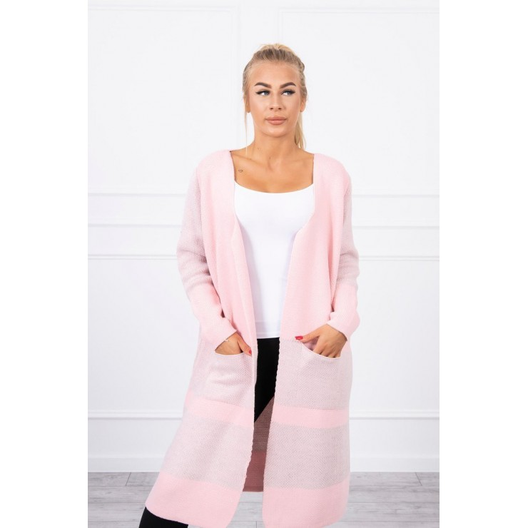 Women's lapel sweater MI2019-26 powder pink