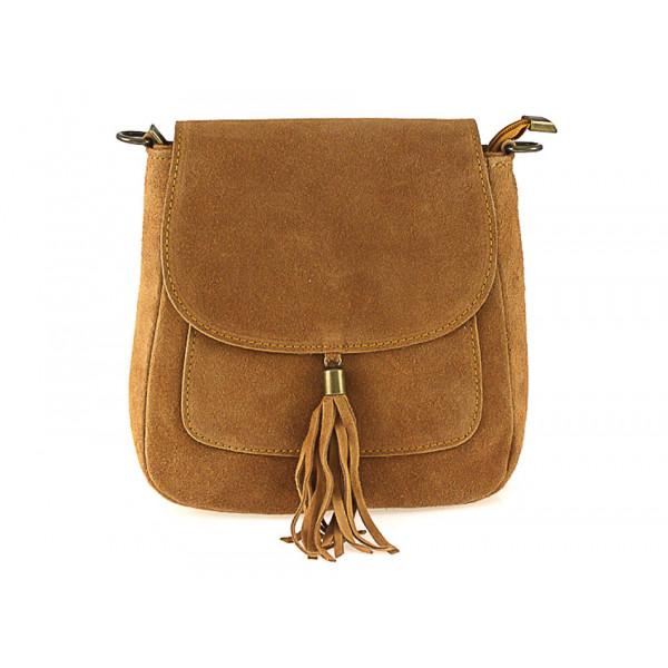 Kožená kabelka na rameno 1147 koňaková