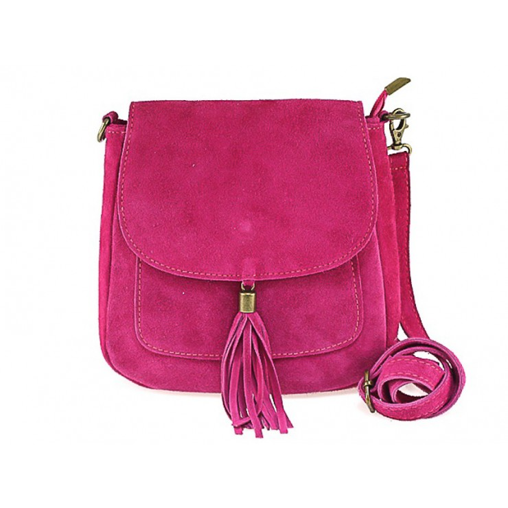 Genuine Leather Handbag 1147 fuxia