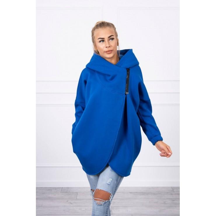 Women's sweatshirt with short zipper MI9110 bluette