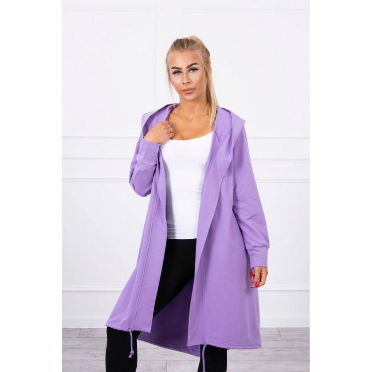 Long cardigan oversize MI9005 purple