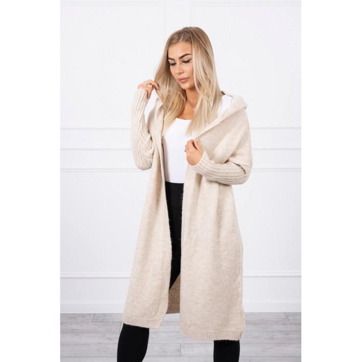 Sweater with hood MI2020-14 beige