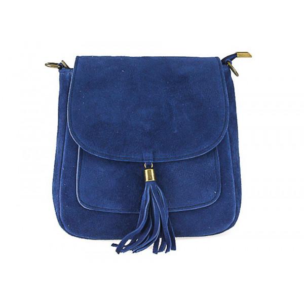 Kožená kabelka na rameno 1147 jeans