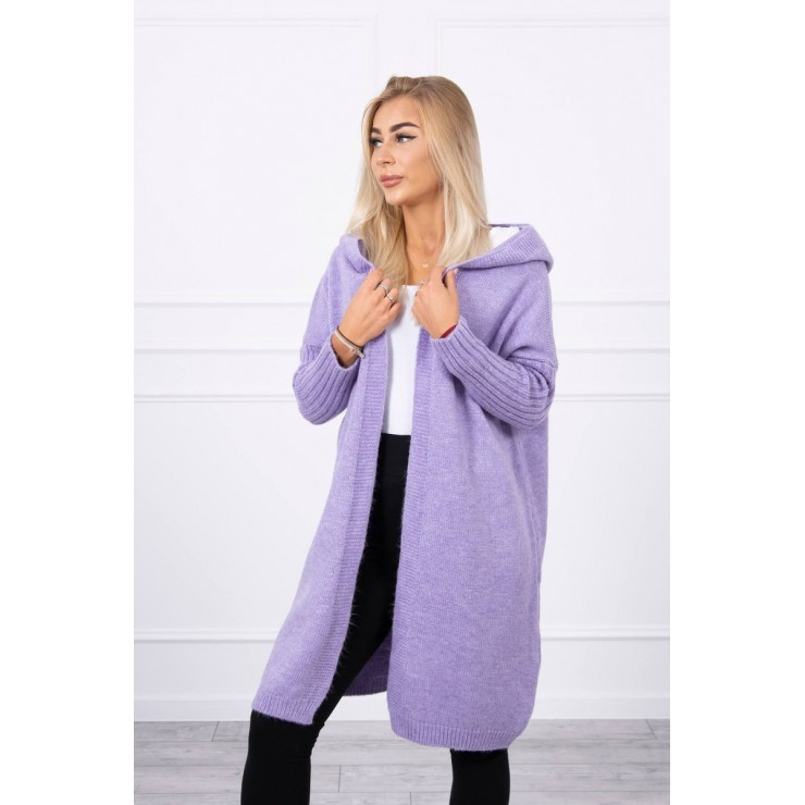 Dámsky sveter s kapucňou MI2020-14 fialový