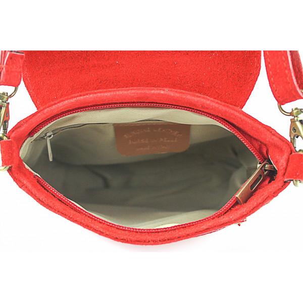 Kožená kabelka na rameno 1147 ružová Ružová