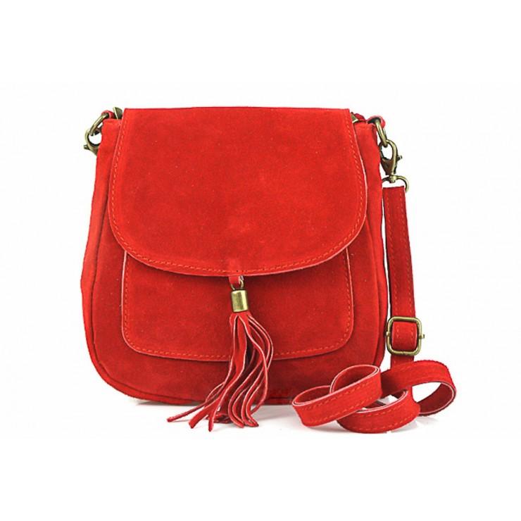 Kožená kabelka na rameno 1147 červená