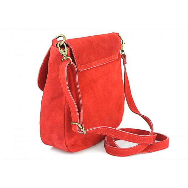Kožená kabelka na rameno 1147 červená Červená