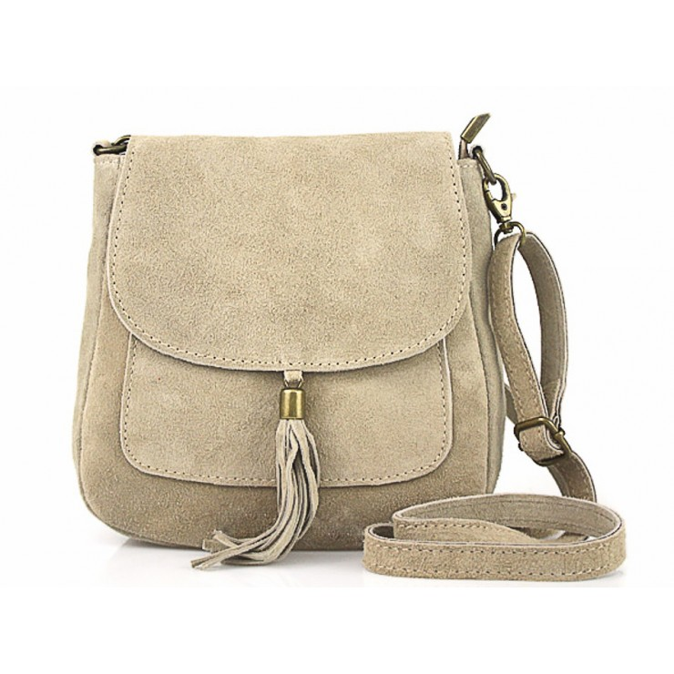 Genuine Leather Handbag 1147 taupe