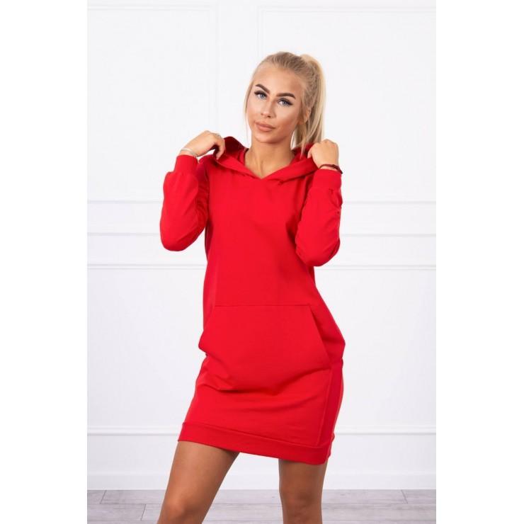 Dress with hood MI67292 red