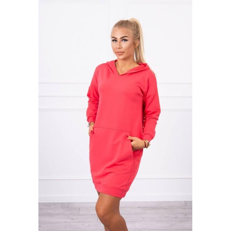 Dress with hood MI67292 fuxia