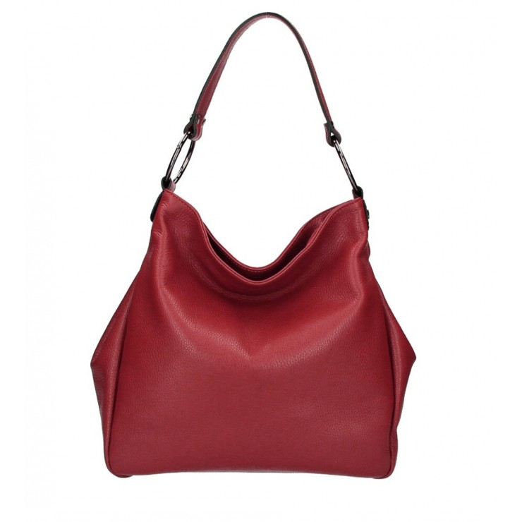 Kožená kabelka 1081 červená Made in Italy