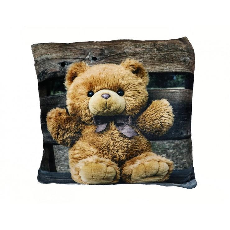 Vankúš zateplený Plyšový medvedík 40x40 cm