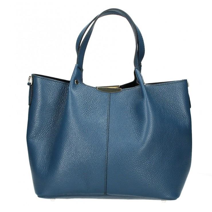 Kožená kabelka 372 modrozelená Made in Italy