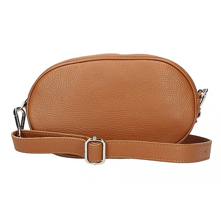 Kožená kabelka na rameno 5345 koňaková