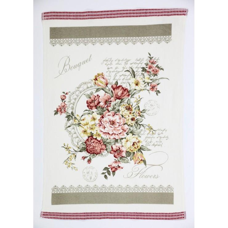Stylish decorative kitchen towel Bouquet 50 x 70 cm