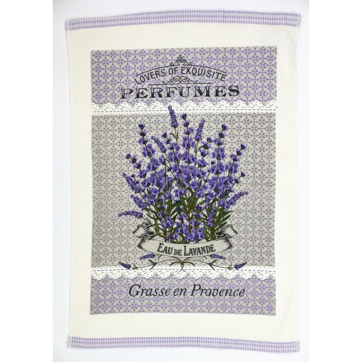 Decorative kitchen towel Lavender season